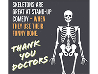 (Image of a poster showing a skeleton and