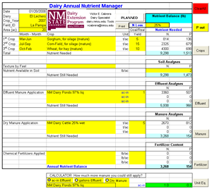 Image of a spreadsheet