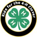 Ride for the 4-H Clover logo