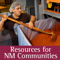 Worker at plant with handle3 in hand_Resources for NM Communities-Icon